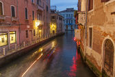Venice, Italy, June 24, 2012 . Kind of a Venetian canal in the evening — Stock Photo