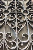 Venice, Italy. Vintage openwork lattice on the window of an old house — Stock fotografie