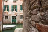 Italy , Venice. City view to chanel — Foto de Stock