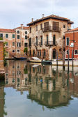 Venice, Italy, June 25, 2012 . Kind of a Venetian canal in the evening. — Stock Photo