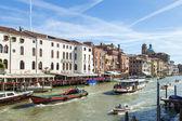 Itálie, benátky. pohled na velký kanál — Stock fotografie