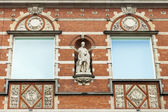Amsterdam, The Netherlands . Typical architectural details of city buildings — Stock Photo