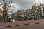 Amsterdam, The Netherlands. Typical city view — Stock Photo