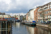Amsterdam, The Netherlands. Typical city view — Stockfoto