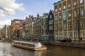 Amsterdam, The Netherlands, April 14, 2012 . Typical urban landscape on a sunny spring day — Stock Photo