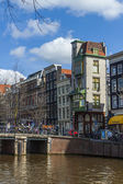 Amsterdam, The Netherlands, April 14, 2012 . Typical urban view spring day — Stock Photo