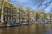Amsterdam, The Netherlands, April 14, 2012 . Typical urban view spring day — Stok fotoğraf