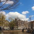 Amsterdam, The Netherlands, April 14, 2012 . Typical urban landscape on a sunny spring day — Stock Photo #41444141