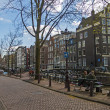 Amsterdam, The Netherlands, April 14, 2012 . Typical urban landscape on a sunny spring day — Stock Photo #41444223