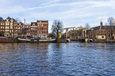 Amsterdam, The Netherlands, April 14, 2012 . Overlooks the Amstel river — Stock Photo