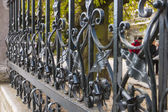 Amsterdam, The Netherlands. Fragment of openwork lattice Vondel Park — ストック写真