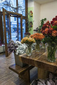 Vienna , Austria , 28 October 2011 . Showcase flower shop — Stock Photo