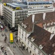 Vienna , Austria October 29, 2011 . City view from the tower of St. Stephen's Cathedral — Stock Photo #42213129