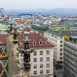 Vienna , Austria October 29, 2011 . City view from the tower of St. Stephen's Cathedral — Stock Photo