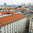 Vienna , Austria October 29, 2011 . City view from the tower of St. Stephen's Cathedral — Stock Photo #42213215