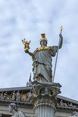 Vienna, Austria. The sculpture decorating the building of the Austrian parliament — Stock Photo