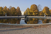 Vienna , Austria , 31 October 2011 . Autumn view Schönbrunn Palace Park — Stock Photo