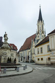 Melk, Austria, on November 1, 2011. Typical view of the small Austrian town — Stockfoto