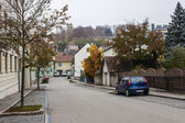 Melk, Austria, on November 1, 2011. Typical view of the small Austrian town — Foto de Stock