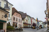 Melk, Austria, on November 1, 2011. Typical view of the small Austrian town — Stok fotoğraf