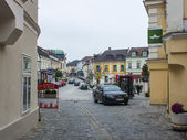 Melk, Austria, on November 1, 2011. Typical view of the small Austrian town — Zdjęcie stockowe