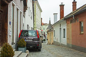 Melk, Austria. Typical urban view in the cloudy autumn afternoon — Stockfoto