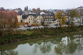 Melk, Austria. Typical urban view in the cloudy autumn afternoon — Foto de Stock