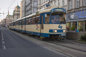 Vienna, Austria. July 7, 2010. The tram on the city street — Foto Stock