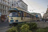 Vienna, Austria. July 7, 2010. The tram on the city street — Stockfoto