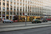 Vienna, Austria. July 7, 2010. The tram on the city street — Foto de Stock