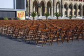 Vienna, Austria. Chairs for the audience on the square near the Town hall — Stock Photo