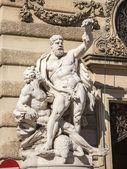 Wien, Österrike. typiska arkitektoniska detaljer av historiska byggnader — Stockfoto