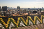 Vienna, Austria. View of the city from a survey platform of a tower of a cathedral of Saint Stefan — Foto de Stock