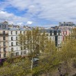 Paris, France, on April 29, 2013. View of the boulevard from a house window — Stock Photo #42797551