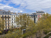 Paris, France, on April 29, 2013. View of the boulevard from a house window — Stock Photo