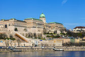 Budapest, Hungary. View of the bank of the Danube and the Royal Palace — Stockfoto