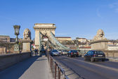 Budapest, Hungary, March 20, 2014 . Danube. chain-bridge — Stock Photo