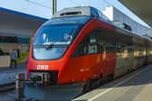 Vienna , Austria , March 26, 2014 . Train preparing to depart . — Stock Photo