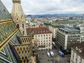 Viena, Áustria. vista da cidade a partir de uma plataforma de pesquisa da Catedral de saint stefan — Fotografia Stock