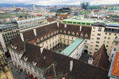 Vienna, Austria. View of city roofs from a survey platform of the Cathedral of Saint Stefan — Stock Photo