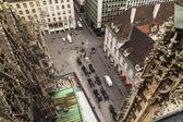 Vienna, austria. vista della città da una piattaforma di indagine della Cattedrale di Santo stefan — Foto Stock