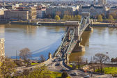 Budapest, Hungary, on March 24, 2014. View of Danube and Pesht from Buda Castle — Stock Photo
