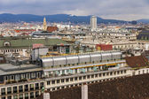 Vienna, Austria. View of the city from a survey platform of the Cathedral of Saint Stefan — Stock Photo