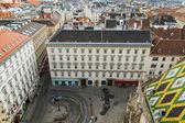 Viena, austria. vista de la ciudad desde una plataforma de estudio de la Catedral de San Esteban — Foto de Stock