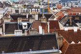 Вена, Австрия. вид на город с обследования площадки собора Святого Стефана — Стоковое фото