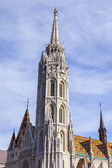 Budapest, Hungary. Architecture of a cathedral of Saint Matiash in Buda — Zdjęcie stockowe