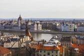 Budapest, ungheria, il 24 marzo 2014. vista del danubio e pesht dal castello di buda — Foto Stock