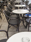 Vienna, Austria, on March 24, 2024. Summer cafe open-air in the European city — Stock Photo