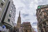 Viena, Áustria. detalhes arquitetônicos típicos de edifícios históricos — Fotografia Stock