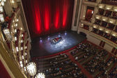 Vienna, Austria, on March 25, 2014. State Opera theater. The auditorium before a concert — Stock Photo